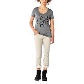 Icebreaker Tech Lite Scoop Poaka T-shirt Col ras-du-cou Bas Femme, gritstone heather